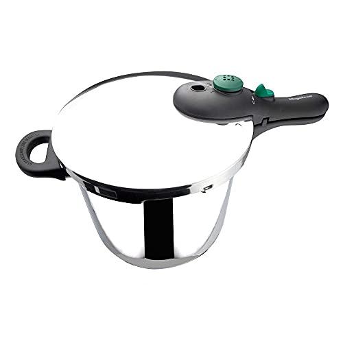 MAGEFESA Dynamic Olla a presión Super rápida de fácil Uso, Acero Inoxidable 18/10, Apta para Todo Tipo de cocinas, Incluido inducción. (7,5L)